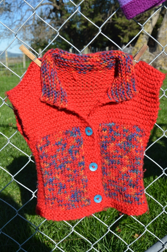 The mother of one of my oldest friends knitted this gorgeous top for my son.